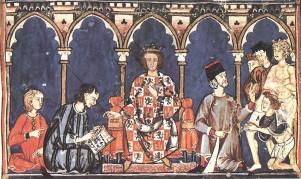 Corte de Alfonso X el Sabio.