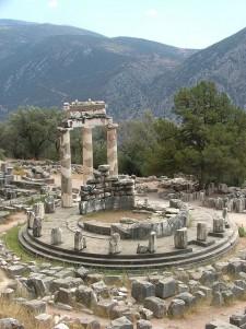 Templo de Tholos en Delphos, Grecia