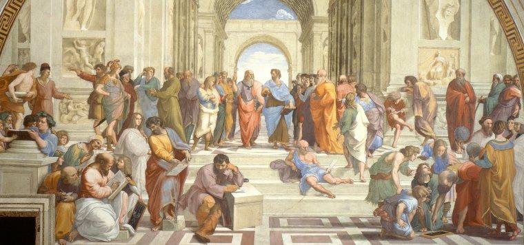 La Escuela de Atenas, pintura de Rafael Sanzio.