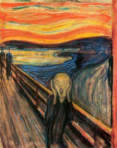 """""""El grito"""", de Edvard Munch."""