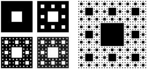 Construcción de la alfombra de Sierpinski