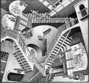 Escher: Relativity, 1953.