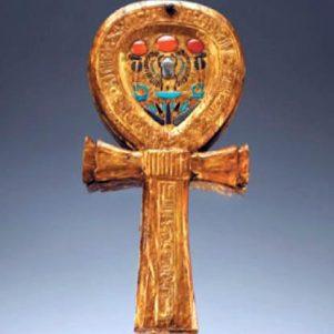 Espejo con forma de Ankh de la tumba de Tutankhamón, en el Valle de los Reyes, Egipto