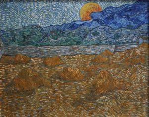 Nueva Acrópolis - Paisaje con campos de trigo y luna