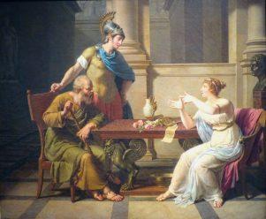 Sócrates y Aspasia
